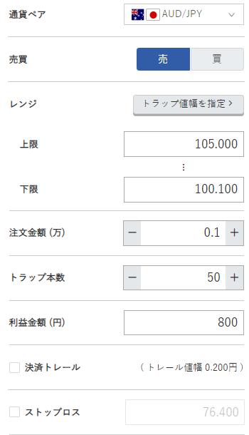 豪ドル円売り100円~105円