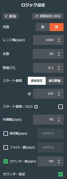 ドル/円買い95-105