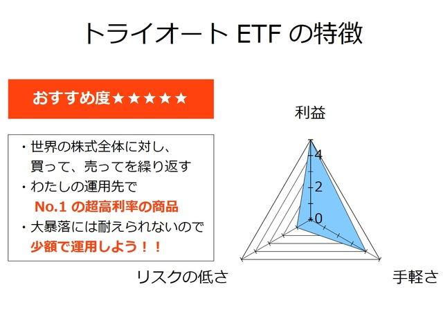 トライオートETFの特徴