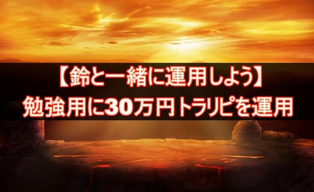 鈴と一緒に運用しよう!!勉強用の30万円トラリピ