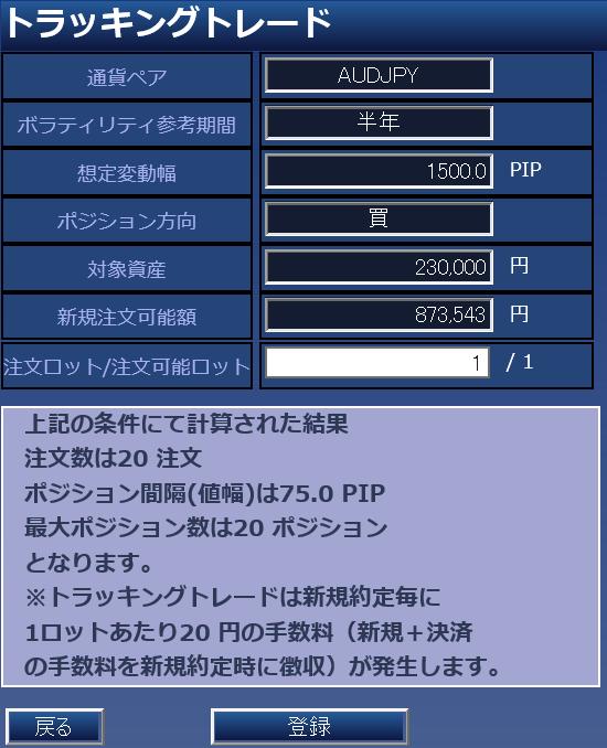鈴のトラッキングトレード設定と運用実績-④豪ドル円