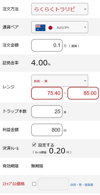 豪ドル円買い75~85