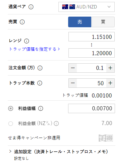 豪ドルNZドル売り_1.15-1.20A
