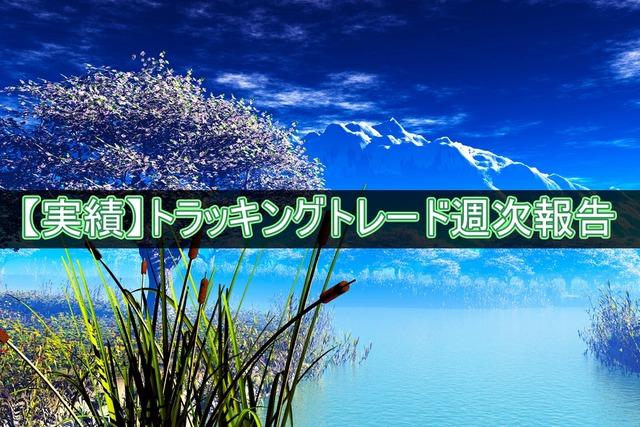 【実績】トラッキングトレード週次報告