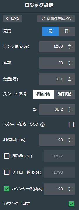豪ドル/円売り80-90