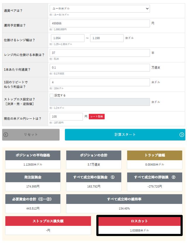 トラリピ運用試算表-ループイフダン