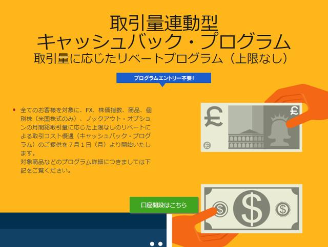 IG証券キャンペーン-取引量連動型