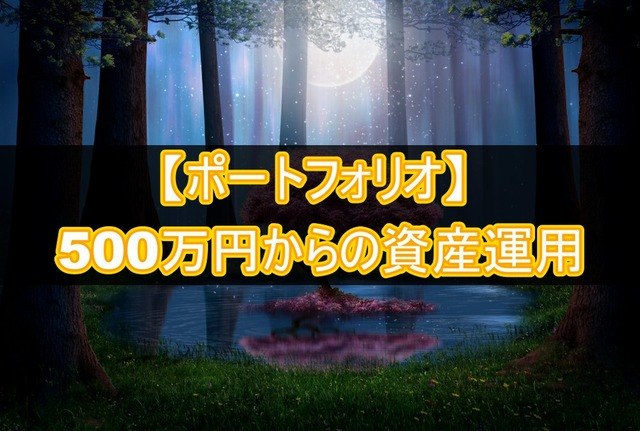 500万円からの資産運用【ポートフォリオ】