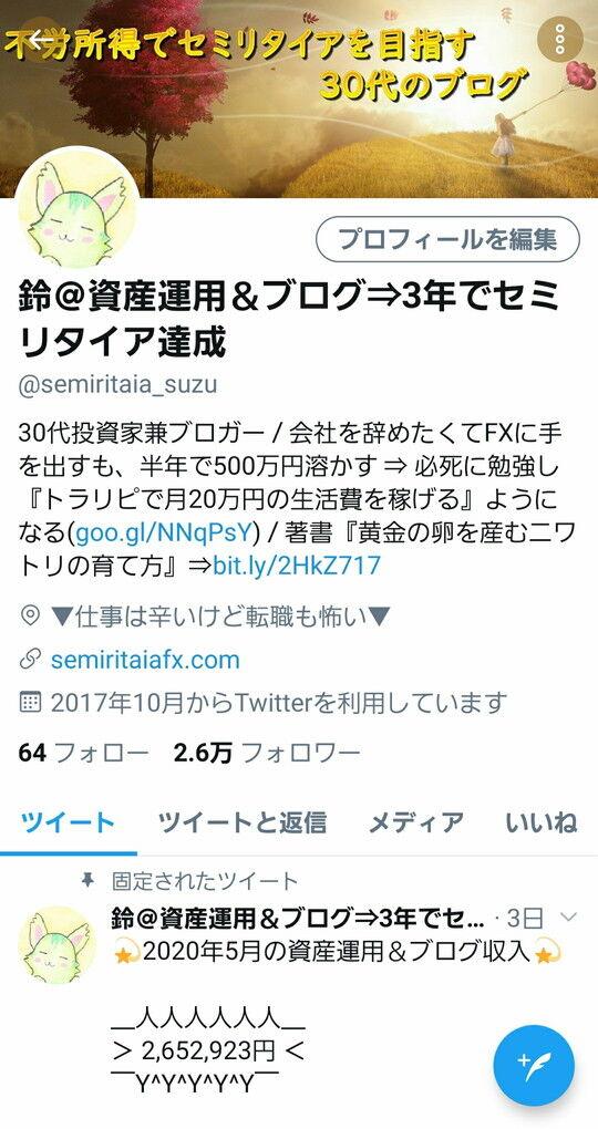 鈴のTwitter