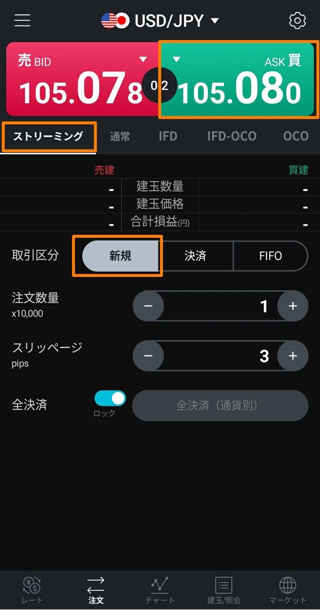 LINE FX(ラインFX)キャンペーン-取引①