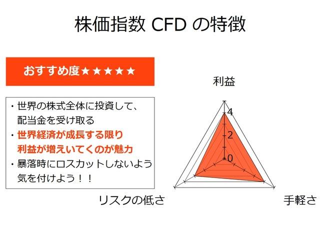 【セミリタイアを目指す資産運用】株価指数CFDの特徴