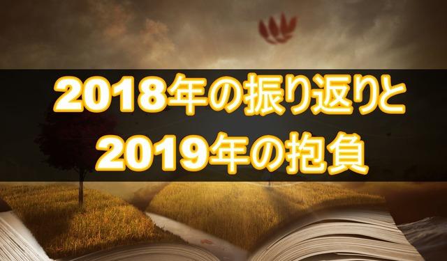 2018年の振り返りと2019年の抱負