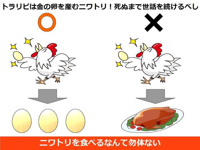 トラリピは金の卵を産むニワトリ