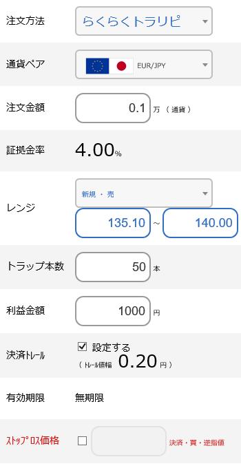 ユーロ円売り135円~140円