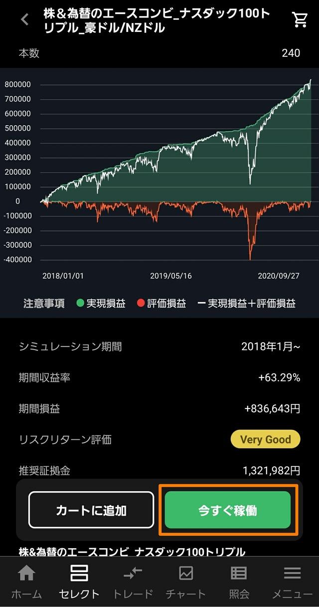 【1クリック発注】株&為替のエースコンビ3