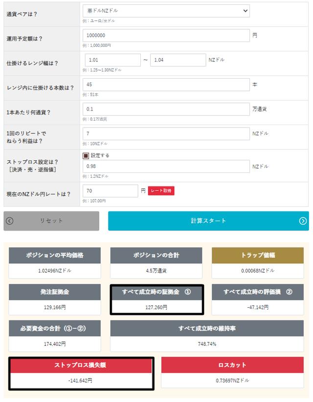トラリピ運用試算表_買いサブ