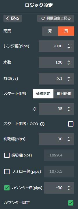 ドル/円買い75-95