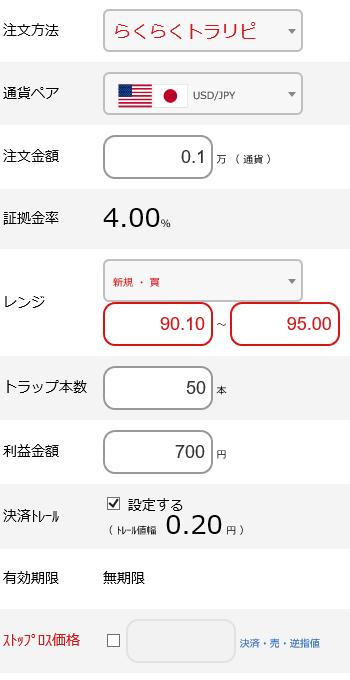 米ドル円買い90円~95円