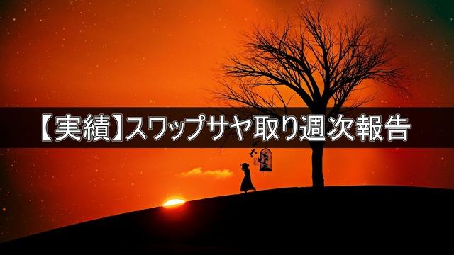 【実績】スワップサヤ取り週次報告