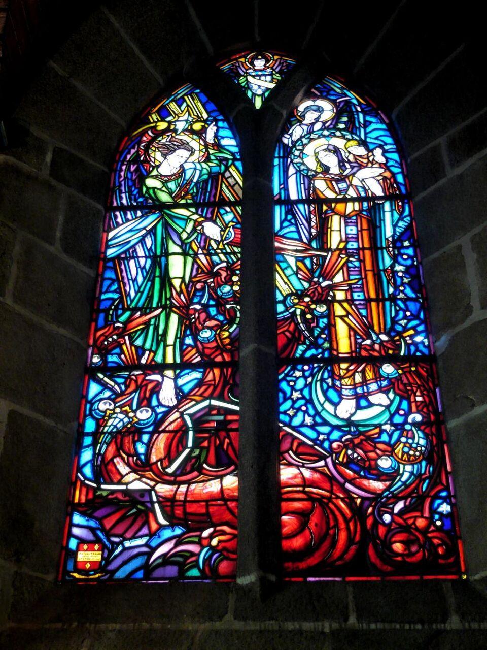 教会 ステンドグラスの窓 ステンドグラス ソウルサン ミッシェル フランス 高精細画像の壁紙の花 材料を入力します 壁紙