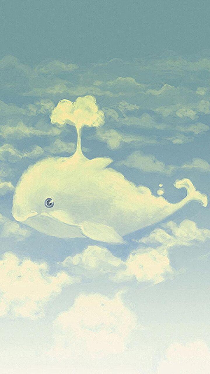Iphoneの壁紙美しい秋の雲かわいいイルカ ロック画面の画像 Hdの携帯