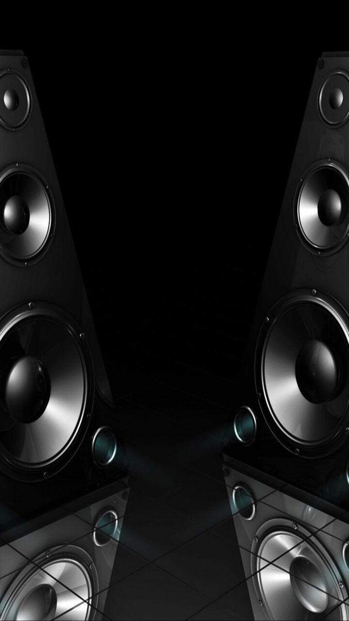 ブラックスピーカー3dサウンド ロック画面イメージ 高精細モバイル