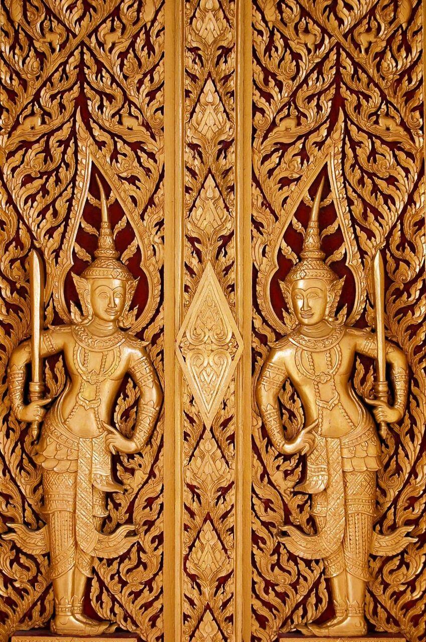 タイ 窓 木 彫刻 旅行 青 壁紙 アジア 建設 高精細の画像 材料を入力します 壁紙