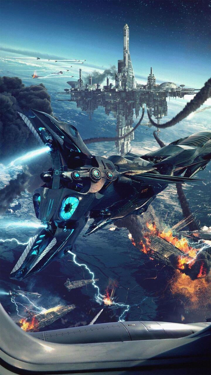 ファンタジーの壁紙のsuミリアンペアホビデオゲームィー危険ni宇宙船水上都市 ロック画面の画像 Hdの携帯電話の壁紙 風景 壁紙