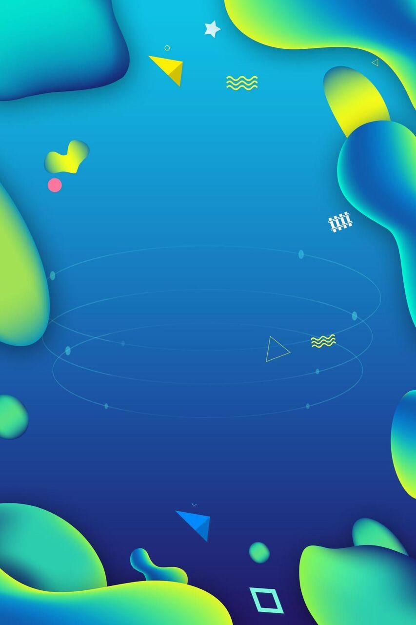 青のグラデーションの背景流体 高精細画像 無地の壁紙を入力ka Wa