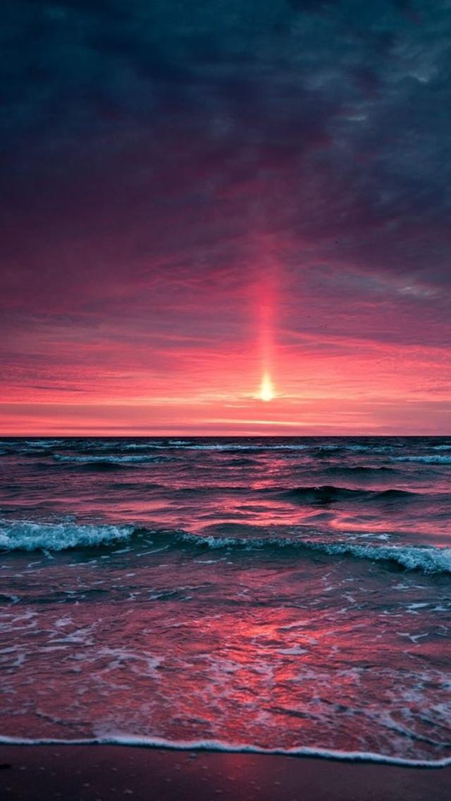 紅海の海の夕日の壁紙 ロック画面の画像 Hdの携帯電話の壁紙 風景 壁紙