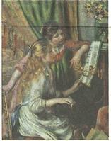 ルノワール ピアノに寄る少女たち