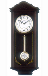 正時メロディ報時付きの振り子時計シチズン シェジュール柱時計4MJA02-006