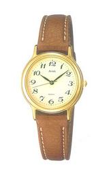 アルバウォッチAQDS020女性用革バンド腕時計