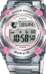 アクティブでキュートな女性の為のカジュアルウオッチBaby-Gの'08 SPRING/SUMMERのカラージュエルグレー
