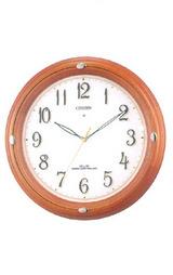 シチズン CITIZEN 夜時刻を確認しやすい暗くなると音の静かな電波掛け時計ネムリーナ4MY646-006