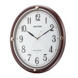 お休みのときに秒針音がしない楕円形の壁掛け時計