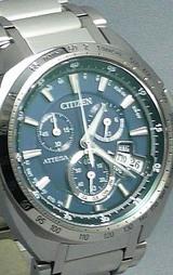 シチズンワールドタイムソーラー電波時計アテッサジェットセッターダイレクトフライトatd53-3082