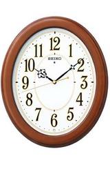 セイコー暗くなると音の静かな電波掛け時計kx343b