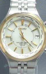 世界3エリアで4つの電波を受信できるセイコー(SEIKO)ドルチェ ワールドタイムソーラー電波時計