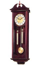 木枠の柱時計 シチズン CITIZEN キャロライン 4MJ742-006