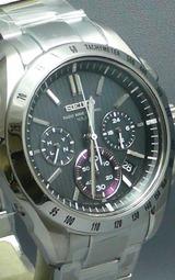 セイコーのソーラー電波クロノグラフ腕時計ブライツSAGA051