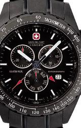 スイスミリタリー(SWISSMILITARY) ブラックナビゲーター 男性用腕時計 ML201B