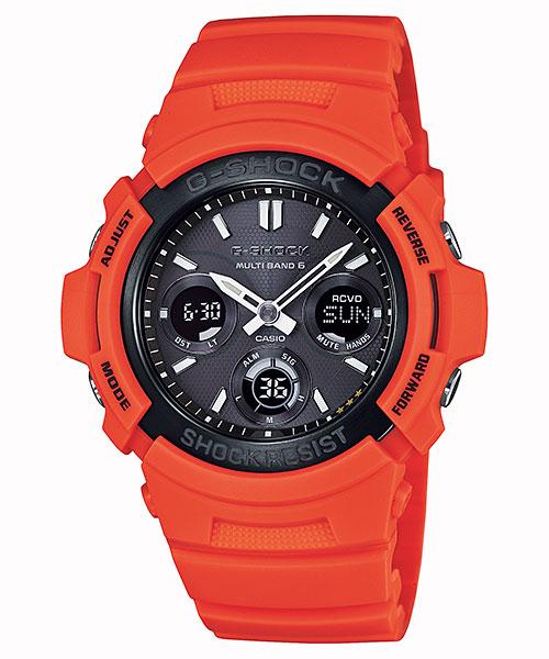 カシオ Gショック CASIO G-SHOCK ソーラー電波時計 レスキューオレンジシリーズ AWG-M100MR-4AJF メンズ 男性用 腕時計 国内正規品
