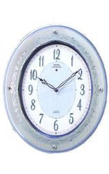 ガラスの質感を活かした高級感あふれるデザイン電波時計