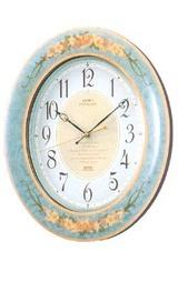 美しい調べが柔らかな時を織りなす薄青色の電波時計