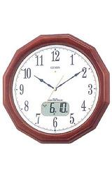 シチズン CITIZEN フルオートカレンダー付きの暗くなると音の静かな電波時計ネムリーナ 4FY606-B06