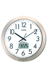 任意の時刻にアラームが設定できるプログラム電波掛け時計