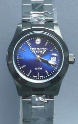 全体に耐摩耗性と密着性に優れた「PVDコーティング」を施したスイスミリタリー腕時計 PVDブラック