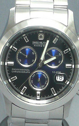スイスミリタリー(SWISSMILITARY) エレガントビッグクロノ 腕時計 ML245