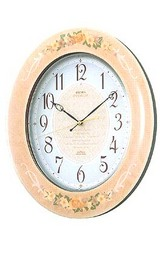 美しい調べが柔らかな時を織りなす茶色の電波時計